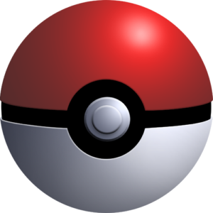 red and white pokeball